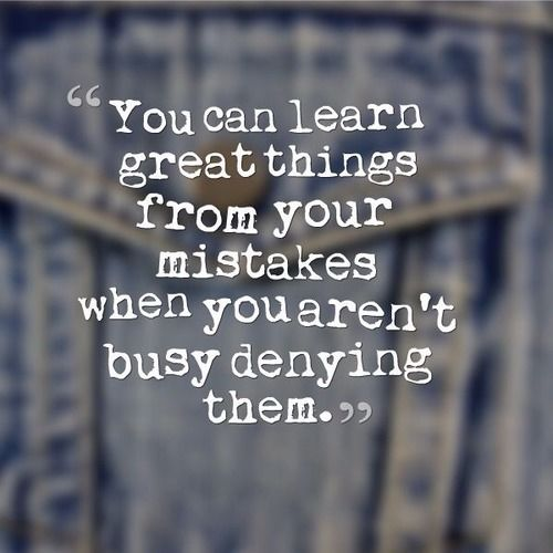SUCCESS LESSON 6: Learn from your mistakes